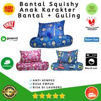 Bantal Squishy Anti Kempes Set (Bantal+guling)