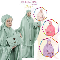 Mukena Bali Dewasa Katun Rayon Polos Jumbo Sakeena Premium - Hijau Mint