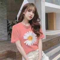 kaos wanita Tshirt Sunny (LD 90, P 57) Bahan rayon fit to L