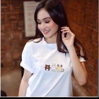 kaos wanita Tshirt Hamtaro (LD 90, P 57) Bahan rayon fit to L