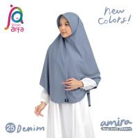 Jilbab Afra Arfa Amira Hijab Kerudung Instan Pet Antem Bergo Denim