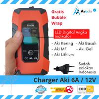 Charger Aki 6A 12V Carger Aki Mobil Casan Aki Alat Cas Aki Motor TRANS