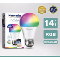 Smart LED Bulb, Lampu WiFi FUTURA RGB 14 Watt Hannochs