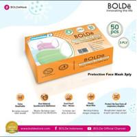 BOLDe Masker 3 Ply Isi 50pcs/box (Filtrasi 95%)