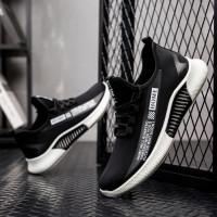 Sepatu Import Korea M 15 Sneakers Pria Wanita Original Import - Hitam Putih, 39