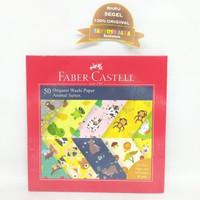 Kertas Lipat - 50 Origami Washi Paper Animal Series Faber Castell