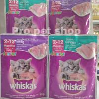 makanan kucing whiskas junior sachet 85gr wetfood kitten