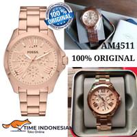 Jam Tangan Wanita Merk Fossil Original Type AM4511 Rosegold