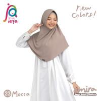 Jilbab Afra Arfa Amira Hijab Kerudung Instan Pet Antem Bergo Mocca