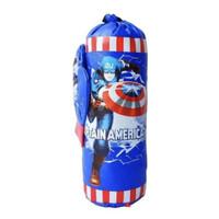 Mainan Anak Samsak Sarung Tinju Boxing Set Captain America Avenger