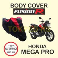 Cover MEGAPRO Sarung Motor Mega Pro FUSION R Waterproof Warna HITAM