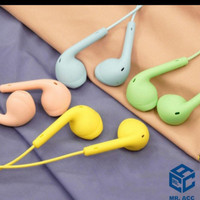 HANDSFREE WARNA WARNI JACK 3-HEADSET MACARON EXTRA BASS MR.ACC MA10