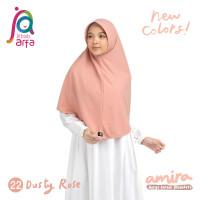 Jilbab Afra Arfa Amira Hijab Kerudung Instan Pet Antem Bergo Dusty Ros