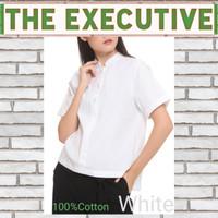 kemeja putih wanita lengan pendek brand THE EXECUTIVE - Putih
