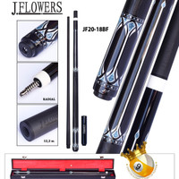 stick billiard carbon j flowers - j flower cue jf 20-18 bf
