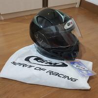 GM Racing Airborne (Black/Hitam/Helm Motor/Helmet Full Face)