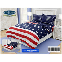 Bed Cover California - STAR & STRIPE - FLAT - 180x200 (King)
