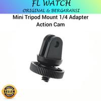 Mini tripod mount 1/4 inch head screw adapter action cam gopro brica