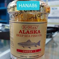 K-Max Alaska Deep Sea Fish Oil Omega 3/ Minyak Ikan 1000mg