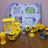 Mainan Set City Building - Mainan Set Kendaraan Konstruksi Bangunan