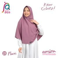 Jilbab Afra Arfa Amira Asli Hijab Kerudung Instan Pet Antem Bergo Plum