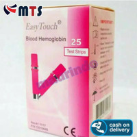 MURAHHH!!!! EasyTouch Blood Hemoglobin HB Isi 25 Strip Easy Touch