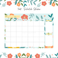 MONTHLY PLANNER dinding
