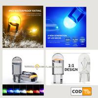 Lampu Senja Motor Mobil T10 LED Transparan Mirip Bohlam Water Proof