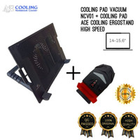PAKET COOLING PAD GAMING ERGOSTAND BIG FAN+ COOLING PAD VACUUM NCV001