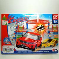 Mainan mobil-mobilan dream of track contest 899-55 isi 202pcs