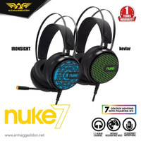 Armaggeddon 7.1 Surround Sound RGB Gaming Headset Nuke 7 [ Garansi 1 T