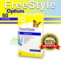 FREESTYLE OPTIUM 50 STRIPS - ALAT CEK GULA DARAH 50 STRIPS ORIGINAL !!