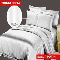 SPREI EMBOS POLOS 160X200 T30 - SALUR PUTIH 16 BY ROSEWELL
