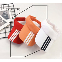 Topi Bolong Tenis Lapangan/Senam/Golf/Lari/Sport Wanita Import