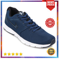 Sepatu Eagle Hybrid Sneakers Running Lari Shoes Original Biru Tua - 38