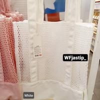 MINISO - Tote Mesh Bag / Tote Bag Jaring (34x40cm) - Putih