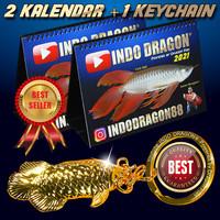 Paket Untung - 2 Indo Dragon Calendar + 1 arowana keychain