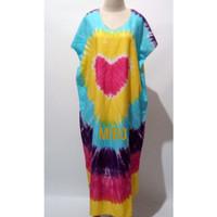 Daster Wanita Jumbo Tie Dye Bali| Daster Bali Pelangi XXL Dewasa