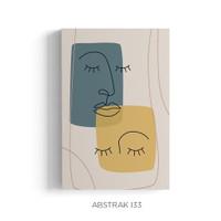 Poster Nordic Scandinavian Face Line Art Dekorasi Dinding Aesthetic
