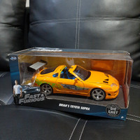 diecast Mobil Brian Toyota Supra Fast & Furious Jada Skala 1: 24