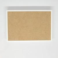 Bingkai Foto Kayu Blok Putih - Frame Foto A4