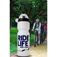 Botol Minum Air Sepeda Ride Life Logo 750ml Botol Minum Olahraga