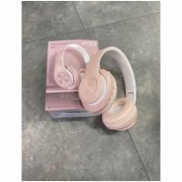 Headset/Headphone Bluetooth Macaroon/P33 - Merah Muda