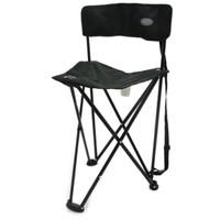 kursi lipat sandaran outdoor portable - Hitam