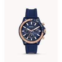 Jam Tangan Pria Fossil Rubber blue BQ2498