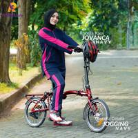 Baju setelan olahraga wanita muslim muslimah jovanva - 2XL-3XL