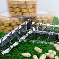 cetakan kue bentuk kacang bahan matrial stainless steel anti karat