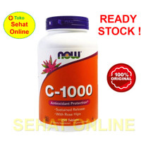 Now Foods Vitamin C 1000 mg Sustained Release + Rose Hips 250 Tablets