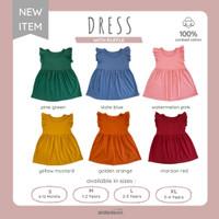 ARDENLEON DRESS WITH RUFFLE | DRESS ANAK PEREMPUAN | DRESS SANTAI ANAK - Yellow Mustard, L