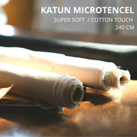 Kain Cotton Micro Tencel / Microtex Super Soft Polosan (Per 0,5 mtr)